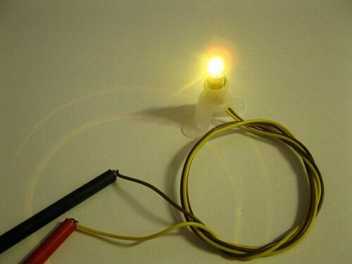5 PEZZI LAMPADINA LED 600100 versione e5.5 bianco caldo 12v a 22v