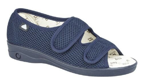 Celia Ruiz L070 Touch Fastening X Wide EEE Fitting Sandal Pure Cotton Washable