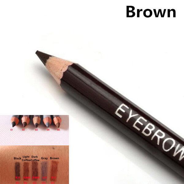 Leopard Women Eyebrow Waterproof Black Brown Pencil With Brush Make Up Eyeliner