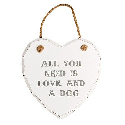 Wooden Heart Wall Plaque Shabby Chic Hanging Sign