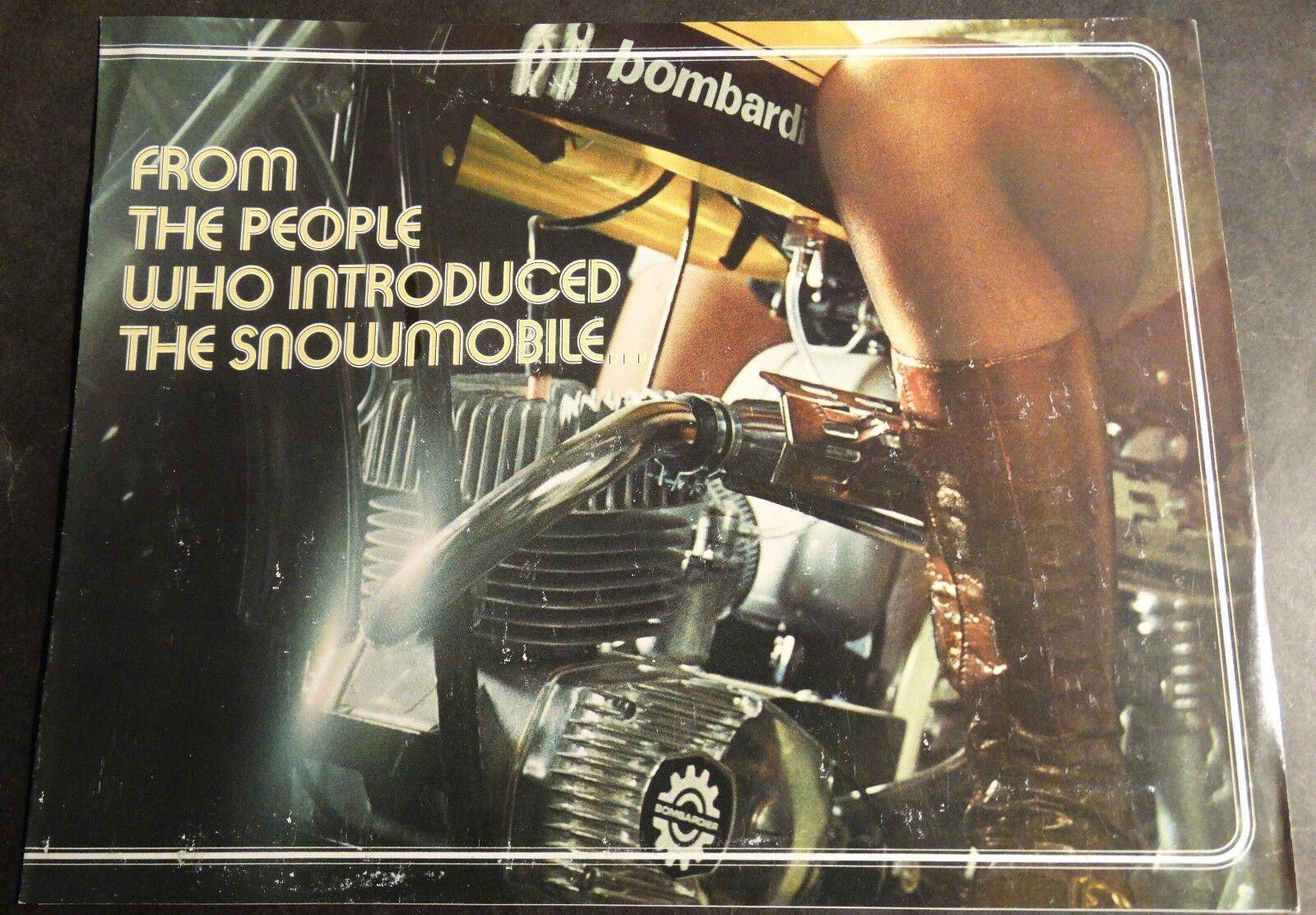 RARE 1971 BOMBARDIER (SKI-DOO) MINI-BIKE MINICYCLE SALES BROCHURE 6 PG   (744)