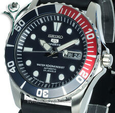 NEW SEIKO AUTO 100Mt DIVERS STYLE WITH RUBBER BUCKLE STRAP SNZF15J2