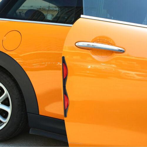 2Pcs*Car Door Guard Prevent Scratches Protect Edge Door Protector Reflector Red