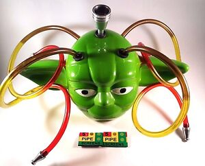 4-Person-Hookah-Pipe-Ceramic-Yoda-Shisha-Quad-Hose-Smoking-Pipe-10-Gauzes