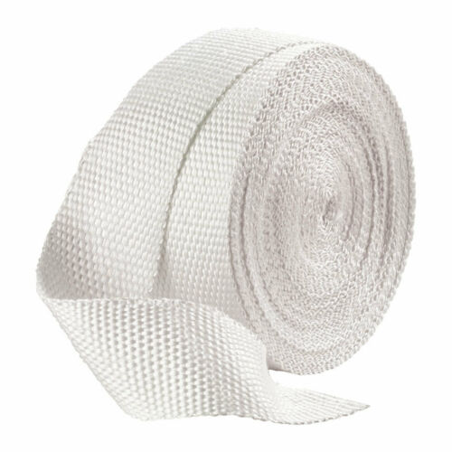 Motorcycle//Bike//Car Exhaust Pipe Heat Wrap 1 Inch Width White 20ft Length
