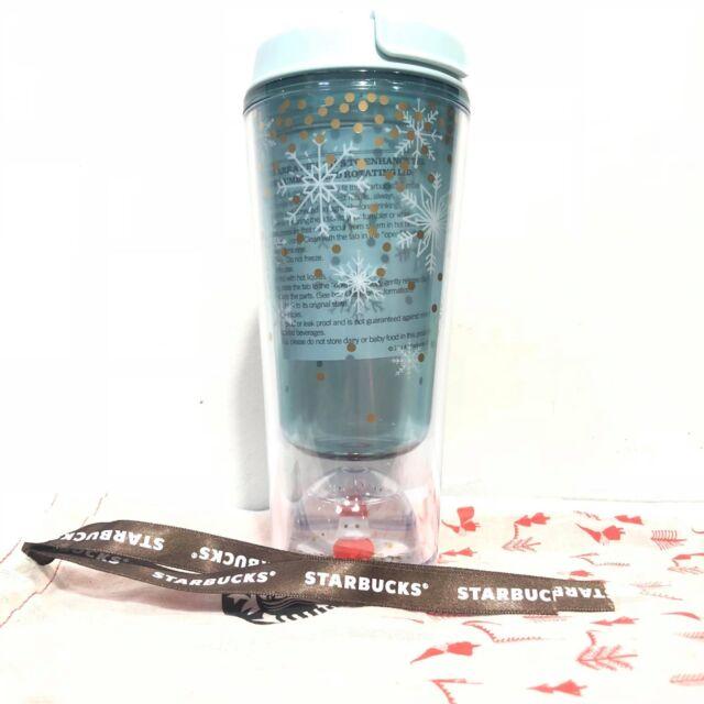 Starbucks Tumbler 12 oz Blue Ring Pattern Siren Sailboat Icon Water Ball Cup Bag