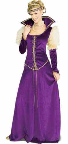 Renaissance Lady Faire Queen Princess Fancy Dress Up Halloween Adult Costume