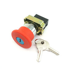 Xb2bs142c 1nc Key Released Red Emergency Stop Mushroom Push Button Switch