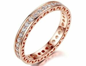 17d5d20f2 Image is loading GENUINE-S925-ROSE-GOLD-HEARTS-HEART-OF-STACKING-