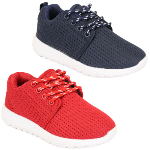 Boys Trainers Kids Lace Up Youth Running Toddlers Air Tech Shoes Casual Fashion