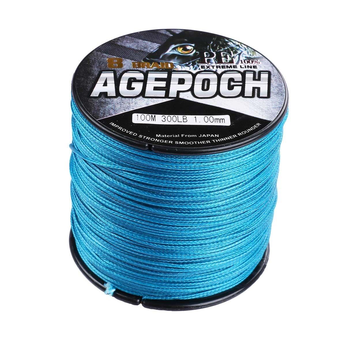 Agepoch 100M-2000M bluee 6LB-300LB Super Strong Dyneema Braided Fishing Line   low-key luxury connotation