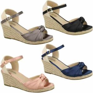 Ladies-Wedge-Sandals-Fancy-Summer-Dress-Heels-Comfort-Walking-Party-Shoes-Size