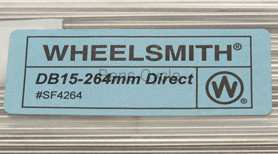 Wheelsmith DB15 Direct Pull Spokes Double Butted 266mm 15g Lot of 10 Silver NEW