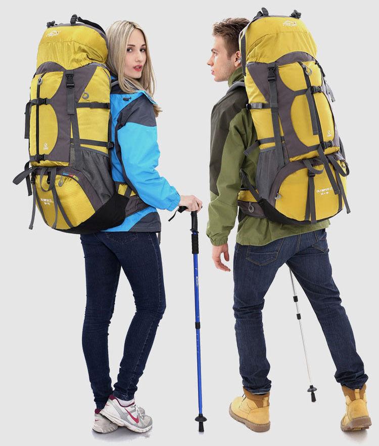 65L Waterresist all'aperto sport Travel Backpack Internal Frame borsa uomini donna borsa