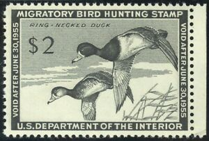 RW21-2-00-1954-Ring-Necked-Ducks-Lovely-Mint-NH-Single