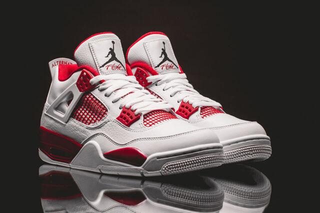 buy online 49222 3d978 Nike Air Jordan 4 Retro Alternate 89 White Black Gym Red Size 11 DS