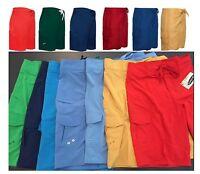 Men's Long Knee Length Swim Board Shorts Small Medium Large 28 30 32 34 36 38 40