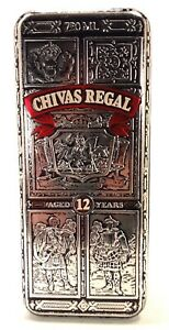 Chivas-Regal-Collectible-Tin-Scotch-Whisky-Frieze-Relief-Container-w-Hinged-Lid
