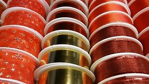 Ruban-de-cadeau-noel-BANDE-meulage-cadeau-rouge-or
