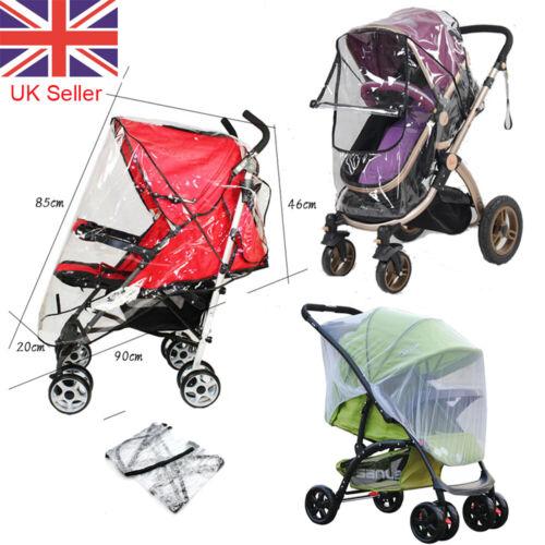 Universal Pushchair Buggy Rain Cover Baby Stroller Pram Mosquito Insert Shield N