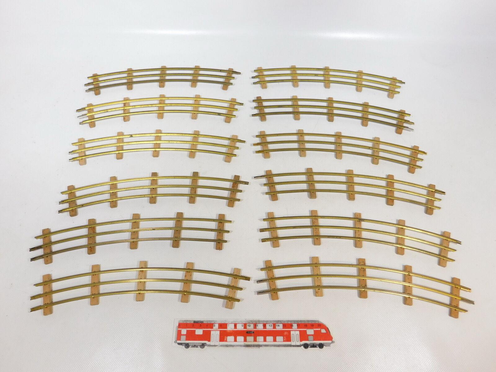 CB201-2  12x Buco Spur 0 Gleisstück 12er 12 er Kreis für elektrischen Betrieb