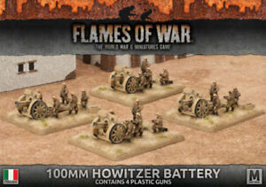 100mm Howitzer Batterie - Avanti - Flames Of War - Ibx12 - Italien