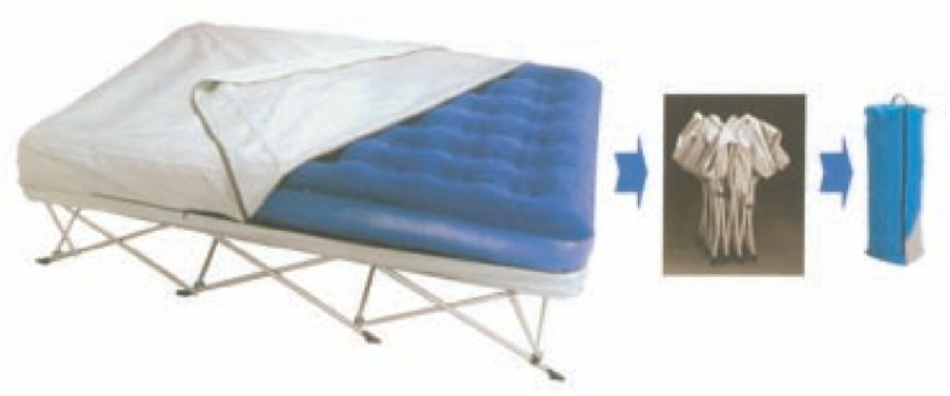 Action Folding Bed Queen Size With Velour Matress Spare Camping Folding Portable