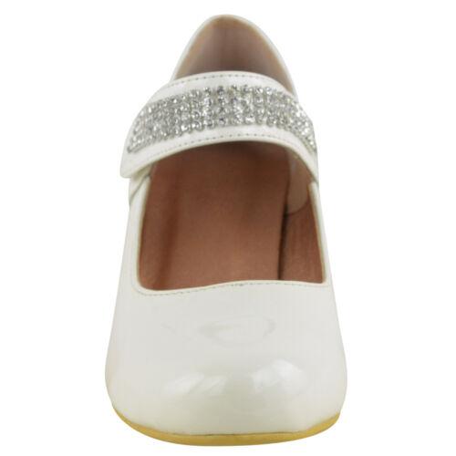 Kinder Mädchen Hochzeit Diamantriemen Niedrig Mittelhoch Schuhe Sandalen Größe
