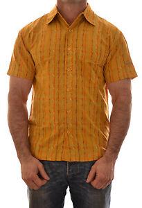 Dare-2b-Hombre-Portal-Manga-Corta-Casual-Camisa-Banano-Amarillo-DMS100-B5