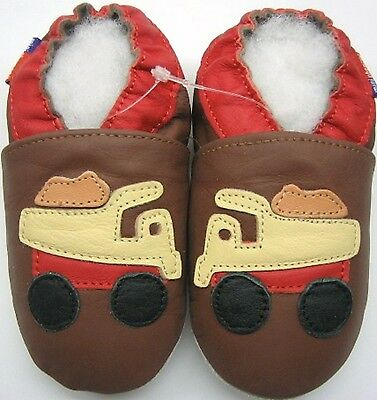 soft sole leather baby boy shoes minishoezoo track tan 5-6 years free shipping