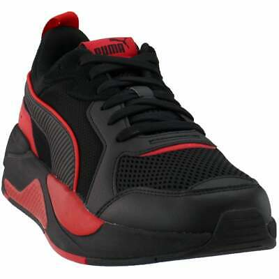 puma xray lace up mens sneakers shoes casual  black  ebay