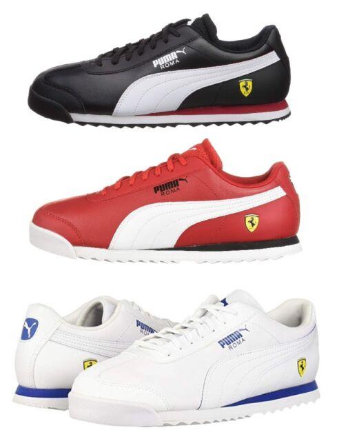 PUMA Scuderia Ferrari Roma Men\u0027s Sport Car Fans Shoes Sneakers Black Red  White