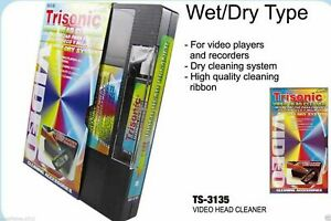 Head-Cleaning-Video-Tape-Cassette-For-VHS-VCR-Player-Wet-And-Dry