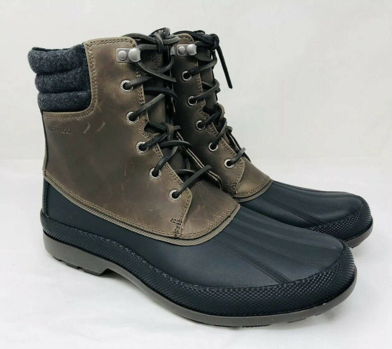 Sperry Men's Cold Bay Duck Boot ICE+ Waterproof Grey Pick A Size