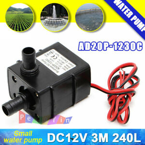 DC12V-3M-240L-H-Ultra-Quiet-Brushless-Motor-Submersible-Pool-Water-Pump-Solar
