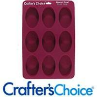Silicone Soap Mold, Glossy Guest Oval 1608, New, Free Shipping