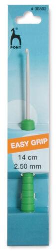 14cm PONY facile impugnatura Crochet Ganci 2mm 6mm-Ridged Impugnature per una migliore impugnatura