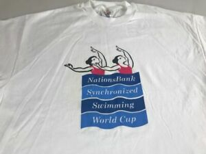 Nations Bank T-Shirt VTG Synchronized Swimming World Cup Adult XL Hanes Cotton