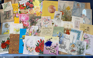 Vintage Greeting Cards Lot- 1940s And Up. 35 Cards- Ephemera- Mixed Lot- A