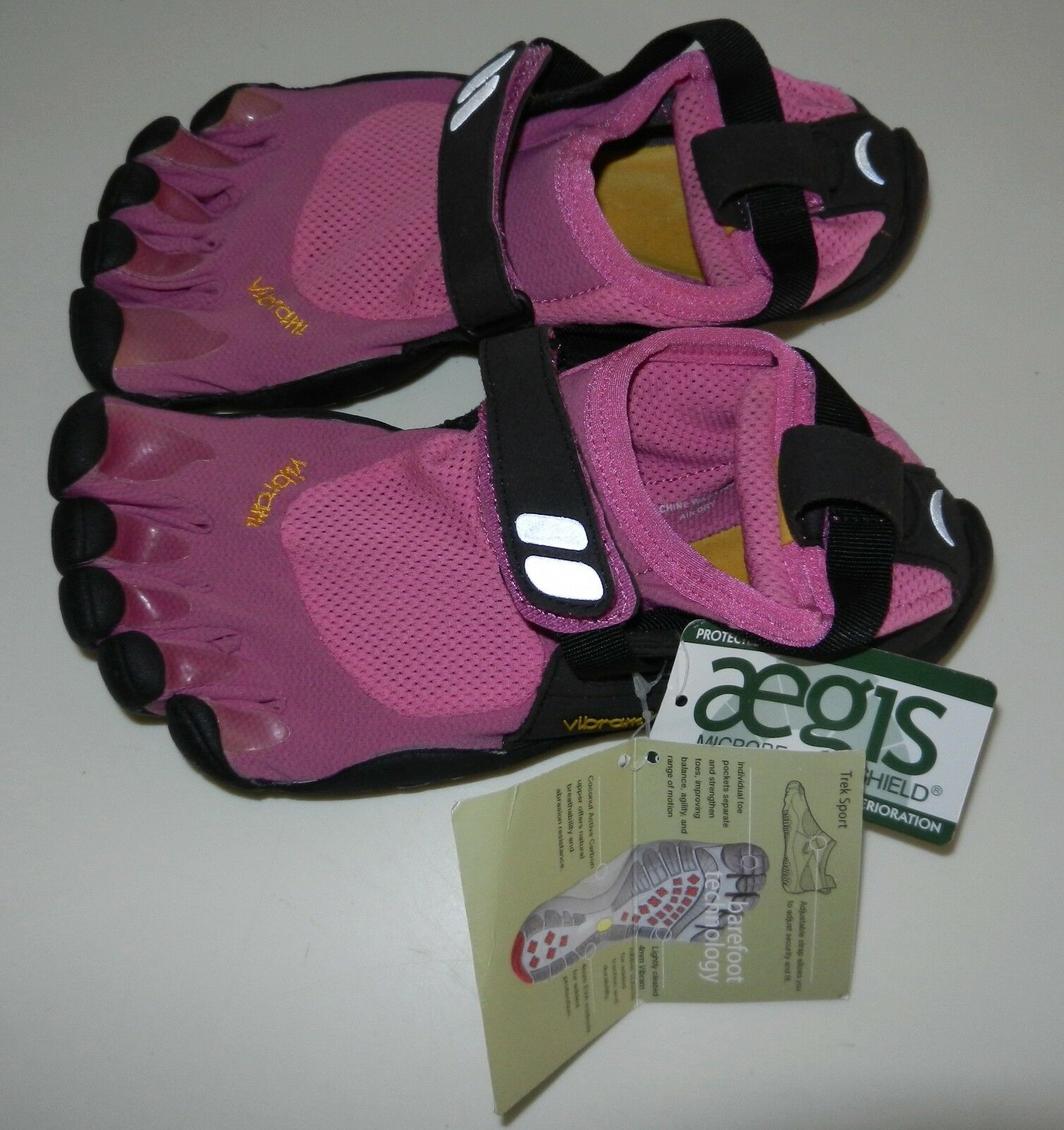 NWT WOMEN'S Vibram FiveFingers TrekSport 37 OR 38 PINK SHOES
