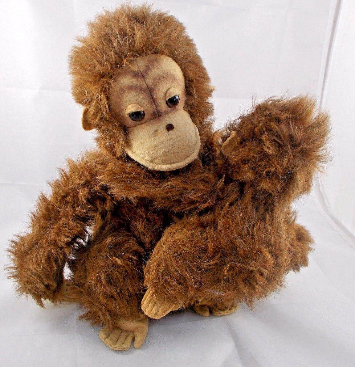 Dakin Orangutan Monkey Ape w/ Baby Plush 1979  Sits 13