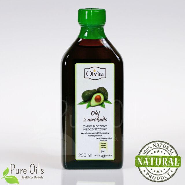 a31744873499 Avocado Oil Cold Pressed / High Unsaturated Fatty Acids - 250ml