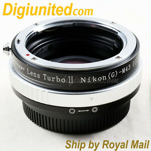 Zhongyi-Lens-Turbo-II-Reducer-Booster-Nikon-F-AI-G-to-Micro-4-3-Adapter-MFT-OM-D