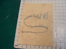 Lovecraft fan Zine: NOISOME SCRAWL #11, for the 100 mailing of E.O,D, 1 of 35