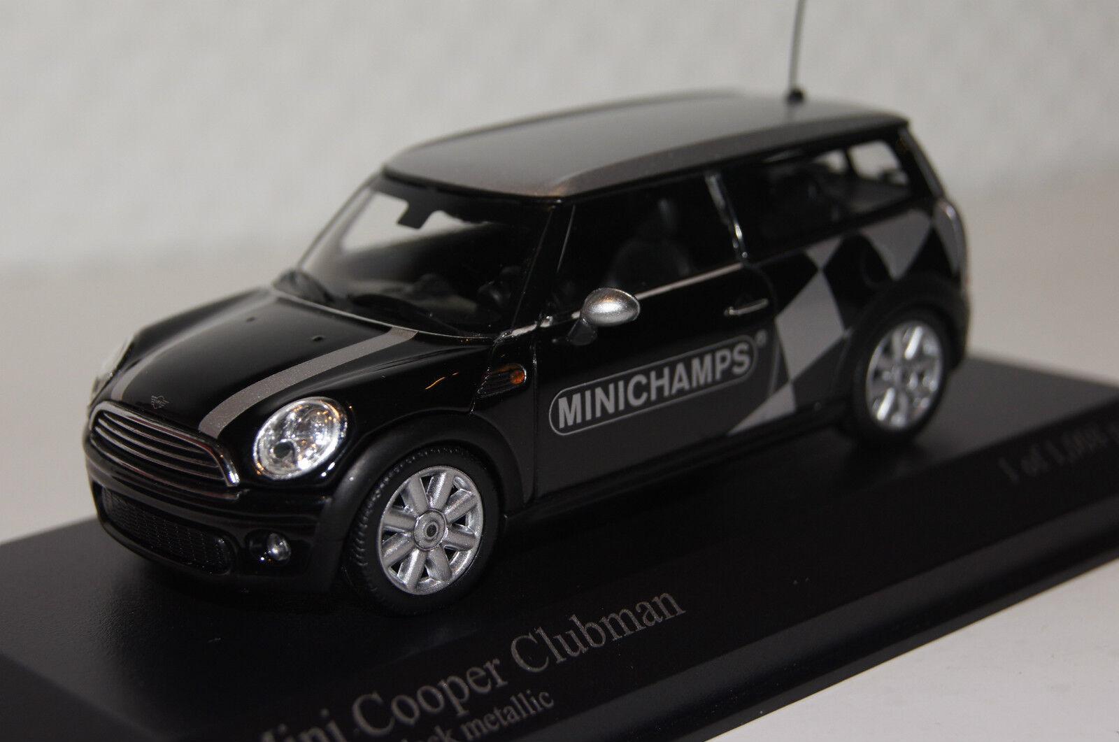 MINI COOPER CLUBMAN 2008 nero.  MINICHAMPS  1 43 Minichamps Nuovo & Ovp 431138672