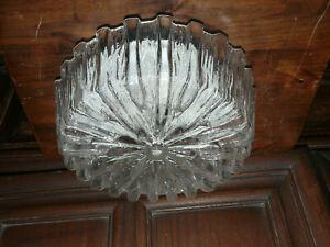 Dekorative 70 er Jahre Plafonier Lampe Deckenlampe Kristallglaseffekt