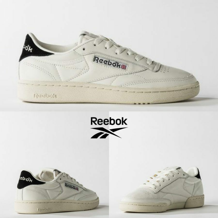 Reebok Classic Club C 85 TG Vintage scarpe nero BS7034 SZ 5-12.5