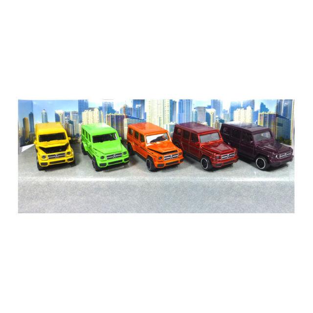 Majorette 212053165 Mercedes-Amg G63 Colour Edition Set of 5 Scale 1:64 New !°