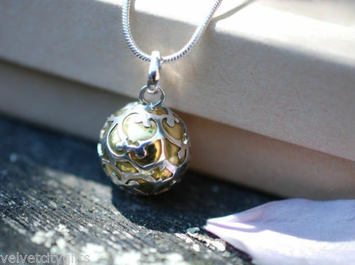 BOLA PREGNANCY GIFT MEXICAN  HARMONY BALL 925 Silver Extra Long to Reach Bump