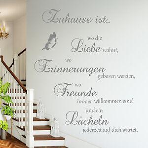 Wandtattoo-AA126-Zuhause-ist-wo-die-Spruch-Wohnzimmer-Flur-Diele-Wandaufkleber